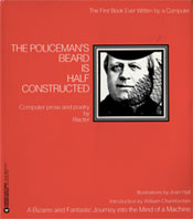 Cover of Racter's The Policeman's Beard is Half Constructed (1984).